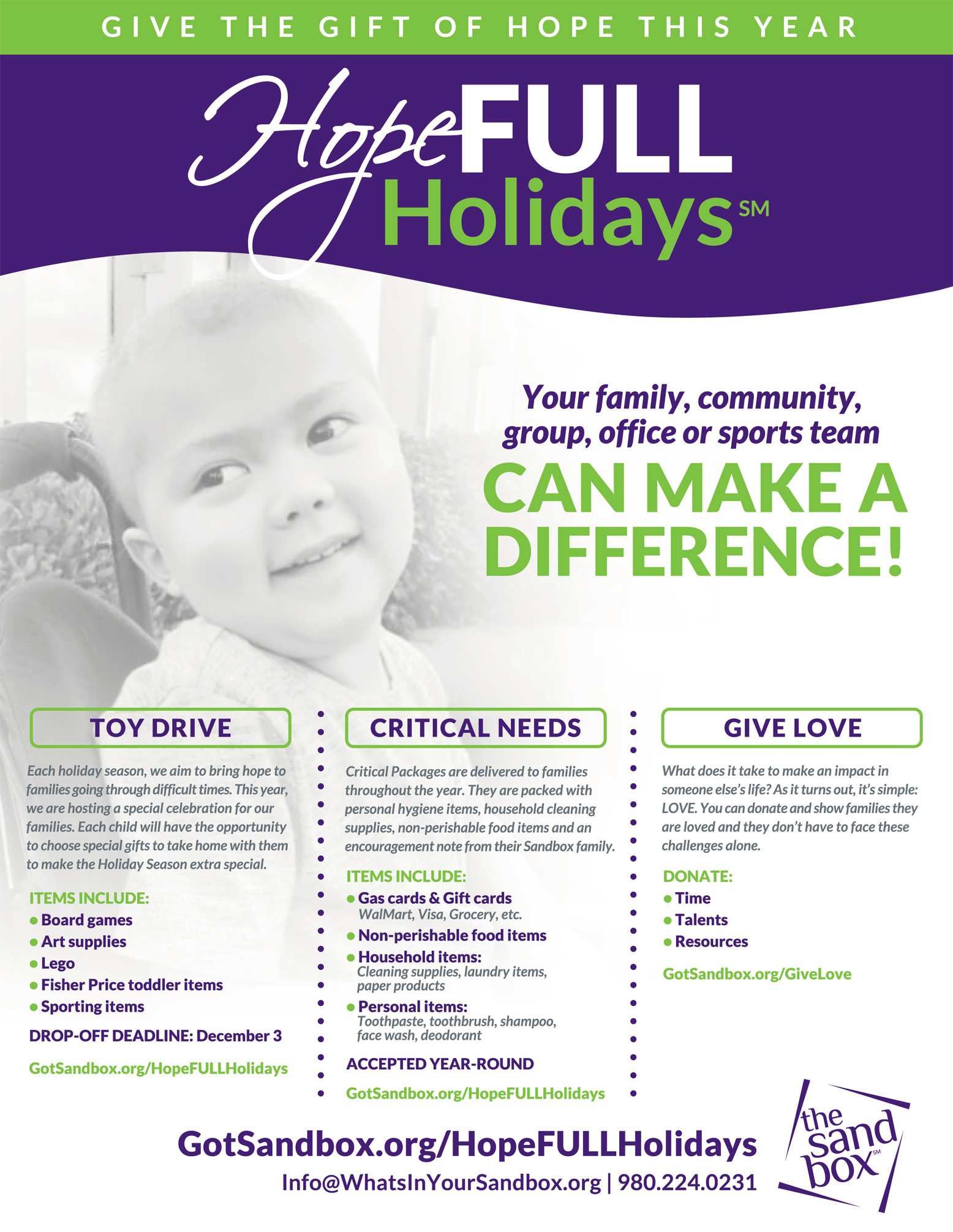 hopefull holidays flyer