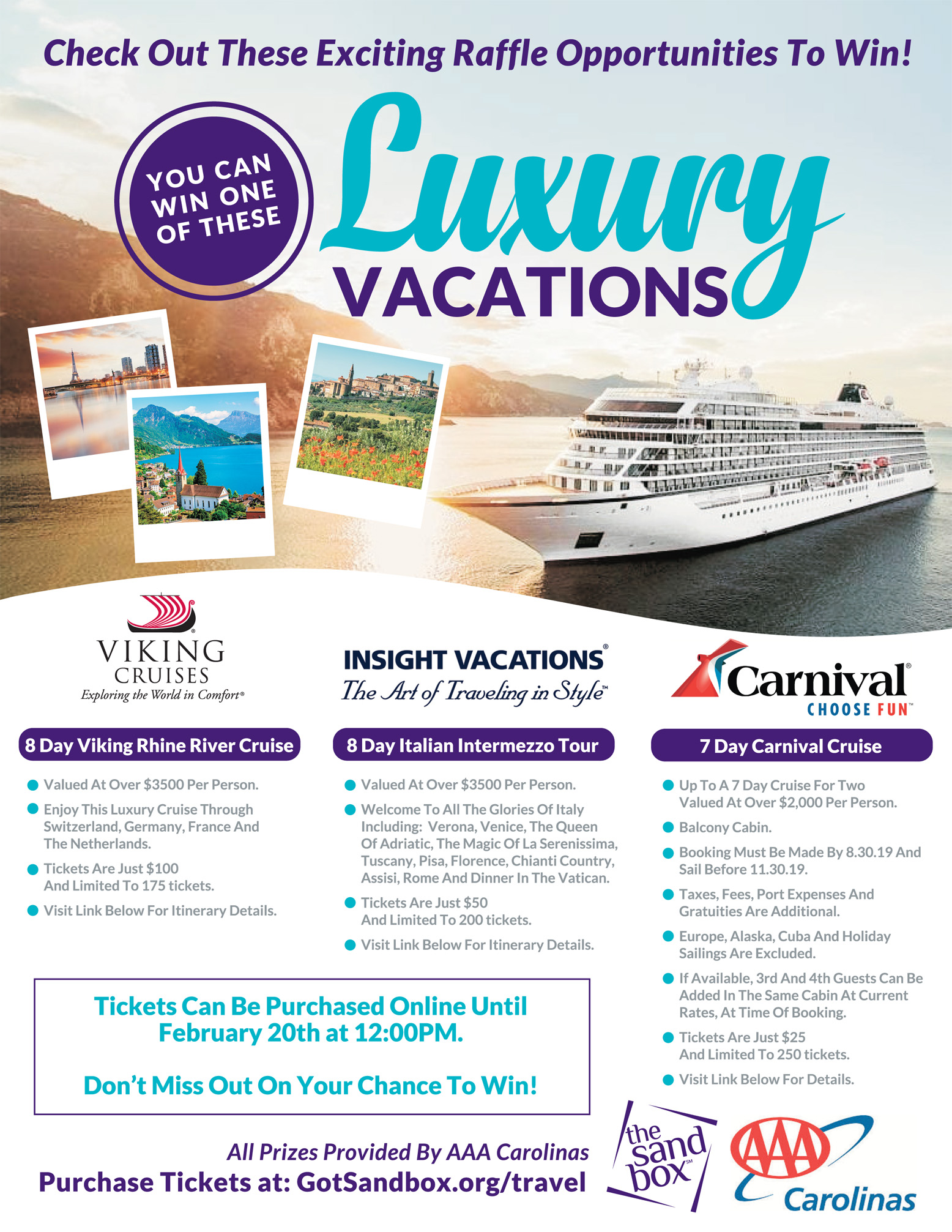 Purchase Cruise Tickets